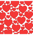 pattern of light red hearts vector image vector image