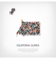 people map country Equatorial Guinea vector image vector image