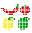 pepper vegetable pi set vector image vector image