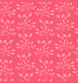 pink leaves seamless pattern flat template vector image vector image
