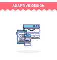 responsive web design line icon flat vector image vector image