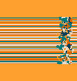 seamless horizontal lines pattern orange vector image vector image