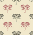 Seamless pattern with elephant heads vector image vector image