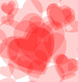 Seamless transparent hearts pattern vector image