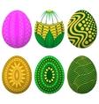 set easter egg vector image vector image