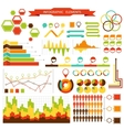 set elements infographics for design eps 10 vector image