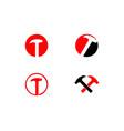 set of hammer logo for construction maintenance vector image