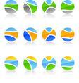 Set of nature symbols vector image