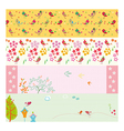 Set of spring and holiday banners vector image