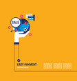 shopping online and e-commerce concept vector image vector image