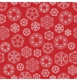 snowflake winter Christmas seamless red vector image vector image