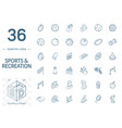 sport and fitness isometric line icons 3d vector image