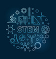 stem blue linear round concept modern vector image vector image