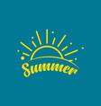 summer template design vector image vector image