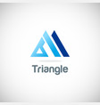 triangle pyramid business logo vector image