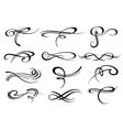 Victorian calligraphic swirl romantic flourish vector image