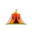vintage circus tent with flags cartoon vector image vector image