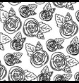 white background with monochrome pattern of rose vector image vector image