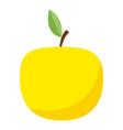 yellow apple icon flat style vector image vector image