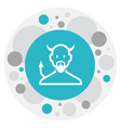 of religion symbol on devil vector image