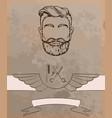 barber shop vintage background vector image