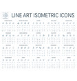 3d isometric line art vector image