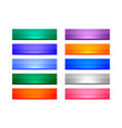 3d style shiny rectangular buttons set ten vector image vector image