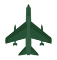 Aircraft with missiles icon flat style vector image vector image