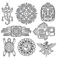 Ancient mexican mythology symbols american vector image vector image