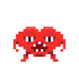 angry red space invader monster game enemy in vector image vector image