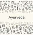 ayurvedic supplies - poster vector image