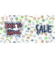 back to school banner sale background vector image vector image