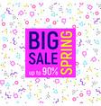 big sale geometric background memphis style vector image