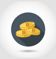 bitcoin icon in flat style vector image
