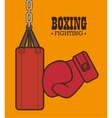 boxing gloves punch isolated vector image vector image