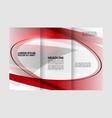 business theme tri-fold brochure design and catalo vector image