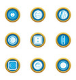 button on clothes icons set flat style vector image vector image