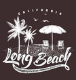 california long beach typography for t-shirt vector image vector image