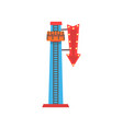 cartoon of free fall or drop tower vector image vector image