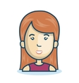 cartoon woman face isolated design vector image