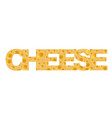 cheese background inscription vector image vector image