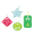Christmas price tags collection vector image