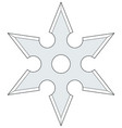 cold steel shuriken vector image vector image