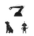 design of robot and factory icon vector image