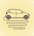 electric auto icon flat design vector image vector image