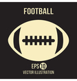Football design on the brown background vector image vector image