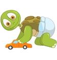 Funny Turtle Baby Boy vector image