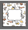 Greeting card template with autumn pattern and vector image vector image