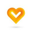 Heart symbol logo icon design template vector image vector image
