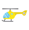 helicopter flat icon transport and air vehicle vector image
